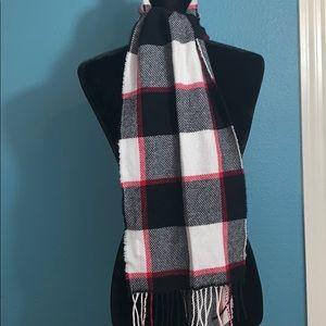 Belle France wool cashmere blend plaid scarf D